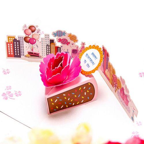 Handmade 3D Greeting Card - Birthday Slice