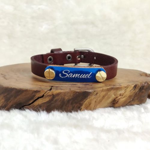 [FREE NAME ENGRAVE] Personalized Leather Bracelet