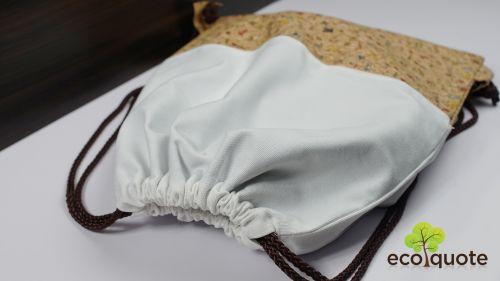 EcoQuote Gym Sacks/Drawstring Bag Handmade Eco-Friendly Cork Material for Vegan