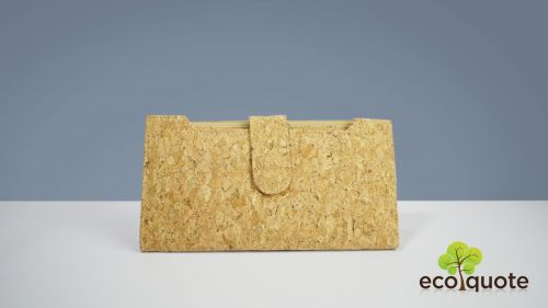 EcoQuote Long Wallet Handmade Cork Eco-Friendly Material, Sustainable & Great for Vegan