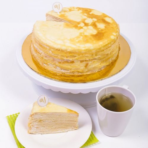 Vanilla Mille Crepe Cake