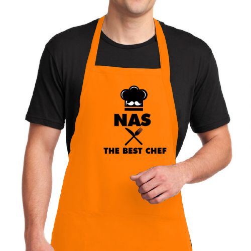 "Customized Apron "" The Best Chef """