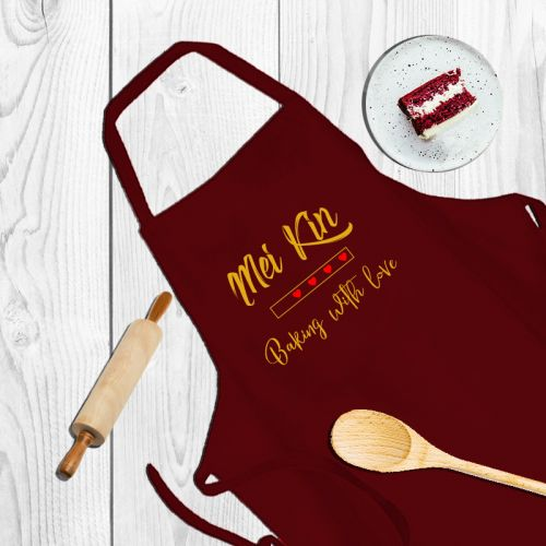 Customized Apron - Baking with love