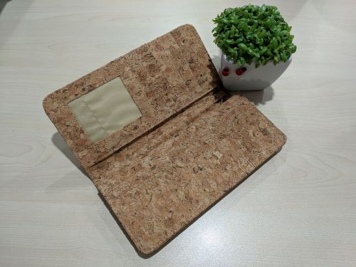 EcoQuote Back Zip Long Wallet Handmade Eco-Friendly Cork Material, Sustainable & Great For Vegan