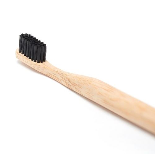 EcoQuote Charcoal Infused Biodegradable Natural Bamboo Toothbrush Eco Friendly & Sustainable