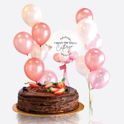Crepe Cake + Aryn Balloon Bunch