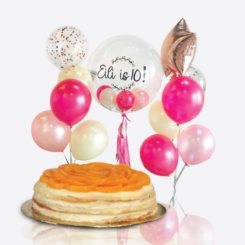 Crepe Cake + Clara Balloon Bunch