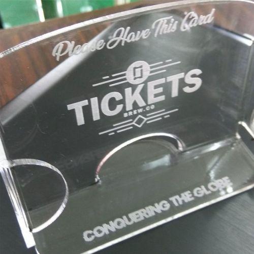 Customised Business Card Holder Display