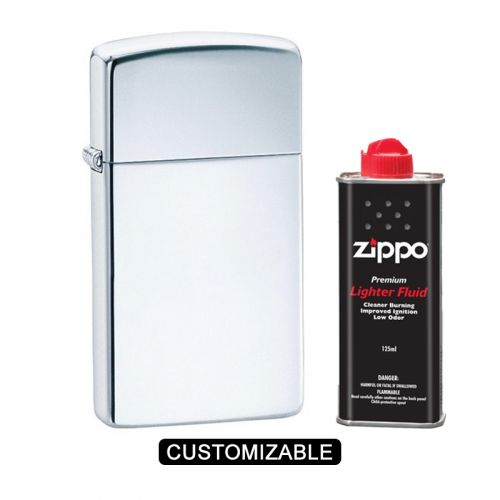 Zippo 1610 Slim High Polish Chrome Lighter