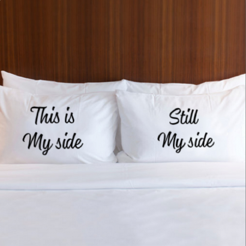 Couple Pillow & Cover - 'Still My Side'