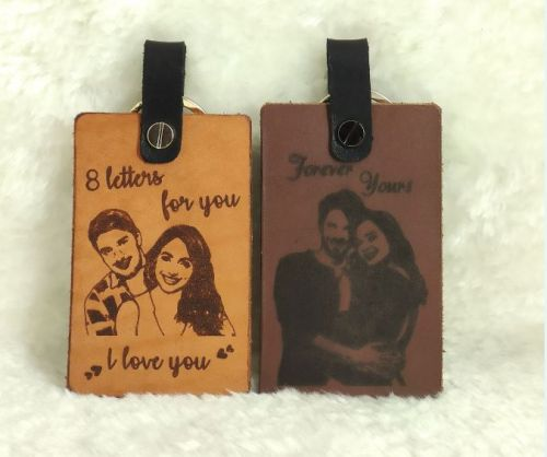 Personalized Leather Travel Tag [FREE NAME ENGRAVING}