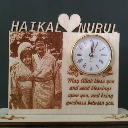 Personal Customised Gift With Clock