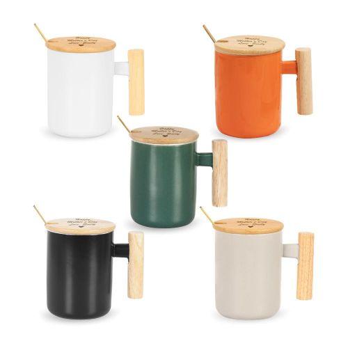Personalised Bamboo Wood  Coffee Mug