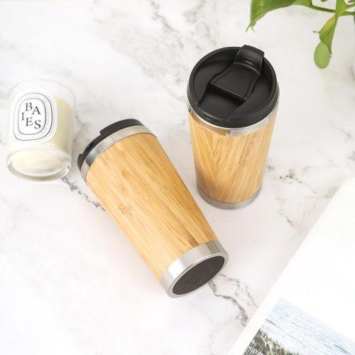 Personalised Bamboo Wood  Coffee Tumbler