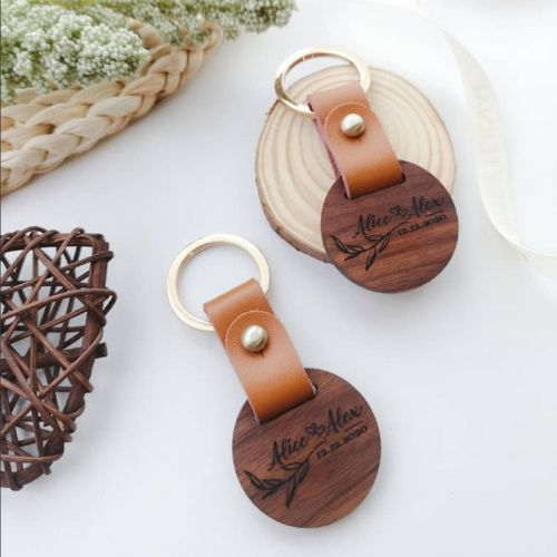 Personalised Wooden Keychain