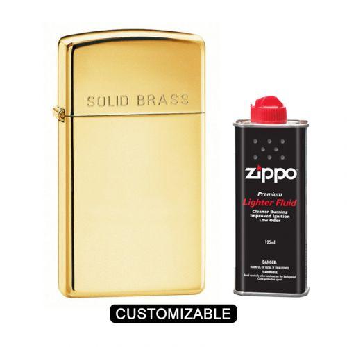 Zippo 1654 Slim High Polish Brass Lighter