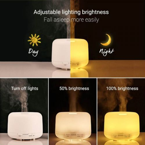 4-in-1 Ultrasonic Humidifier, Air Purifier, Cool Mist, Aromatherapy Diffuser & LED Night Lamp