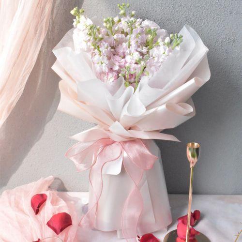Pastel Matthiola Flower Bouquet