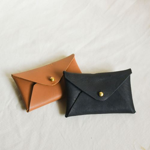 Genuine Leather Envelope Cardholder (Free Name Embossing)