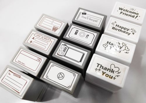 Stationery Simple Large Stamp (Free Engraving)