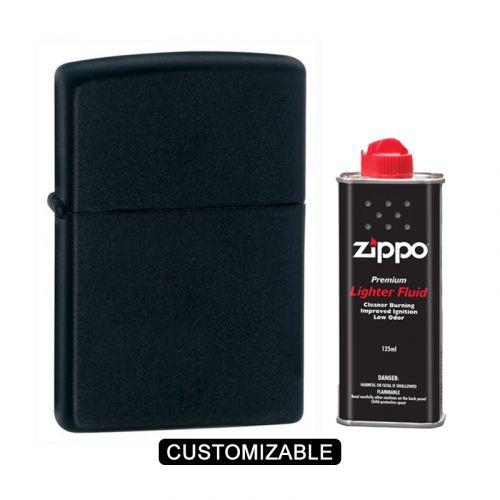 Zippo 218 Black Matte Lighter
