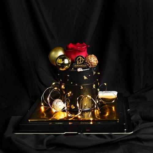 Elegant Dark Valentines Cake (Valentine's 2021)