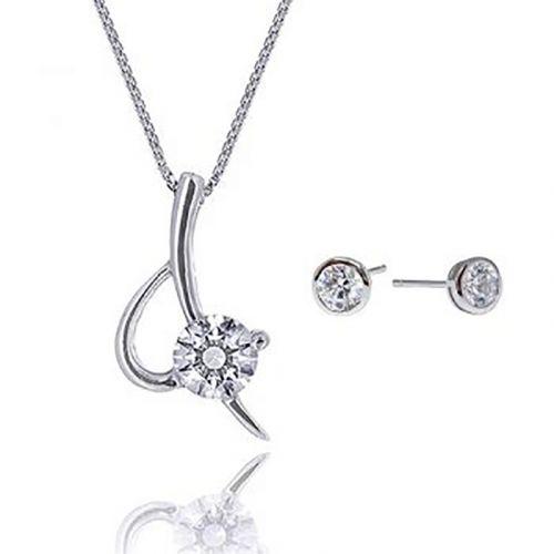 Kelvin Gems Eternal Blade Pendant & Earrings Gift Set