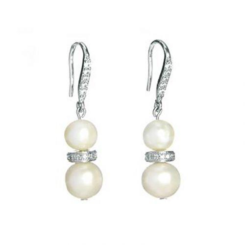 Kelvin Gems Classic Glam Eugenia Fresh Water Pearl Hook Earrings
