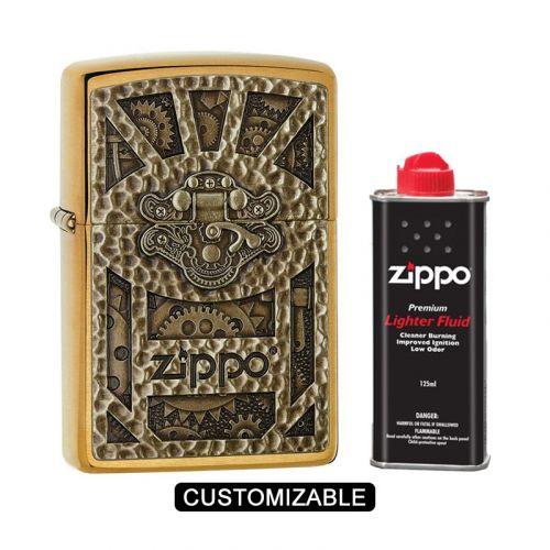 Zippo 29103 Steampunk Box Emblem Lighter