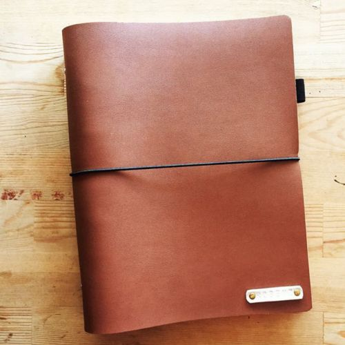 Personalized Faux Leather 6 ring planner/notebook