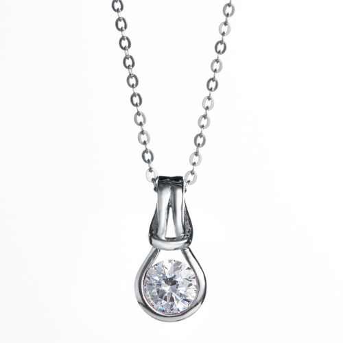 Kelvin Gems Forever Pendant Necklace Made With Swarovski Zirconia