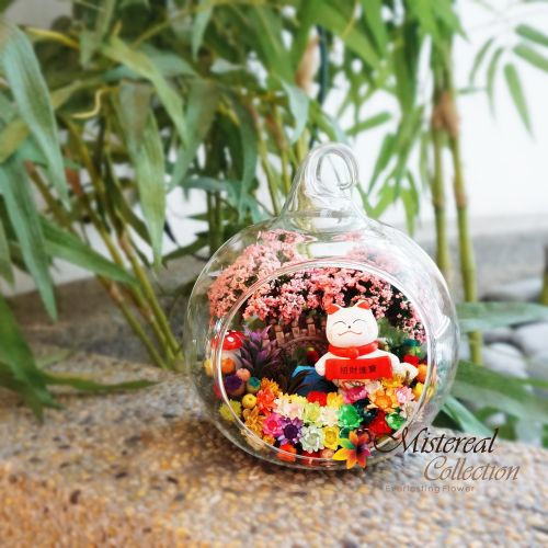 Fortune Cat- Mistereal Preserved Flowers