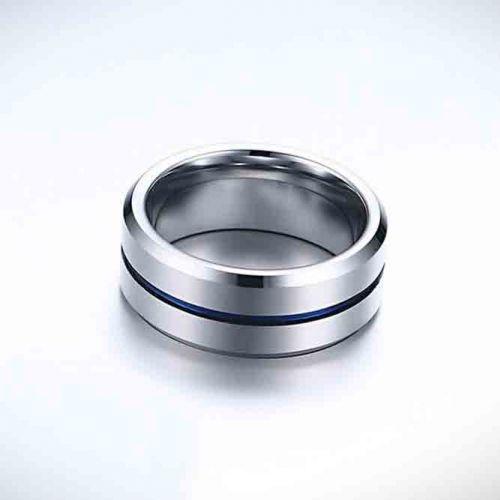 Personalised Blue Stripe Fashion Ring