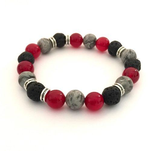 Handmade Red Diffuser Bracelet