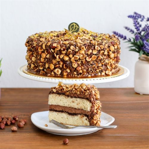 Hazelnut Praline Cake