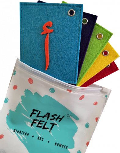 Arabic Alphabets Hijayah Soft Toys Flash Card Felt