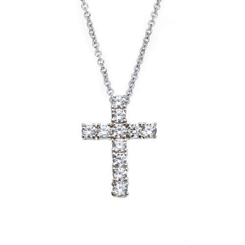 Kelvin Gems Holy Cross Pendant Necklace Made With Swarovski Zirconia