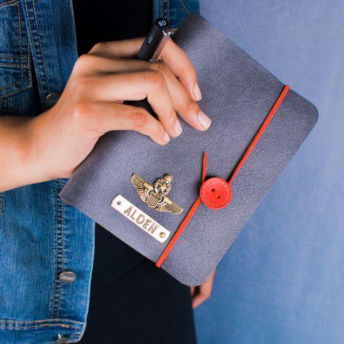 A5 Button Journal