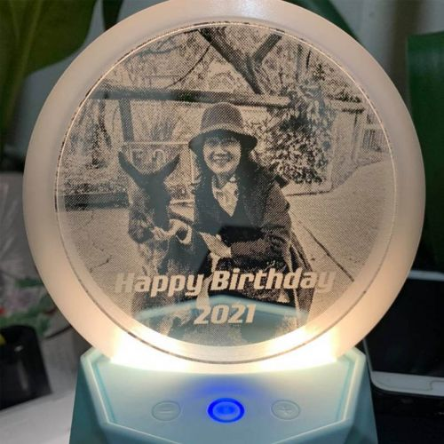 UNIQUE 3D Personalized LED Photo Lamp with Bluetooth Premium HD Speaker & LED Lights