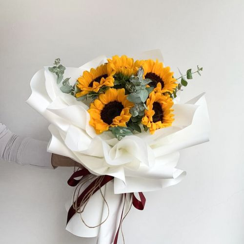 Bright Pure Sunflower Bouquet