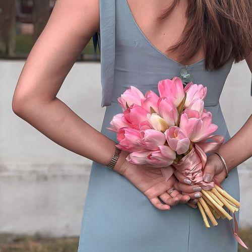 Cherry Pink Bridal Bouquet