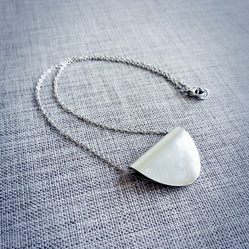 Handmade Folded Spoon Necklace