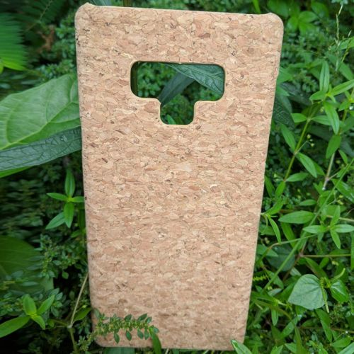 EcoQuote Samsung Galaxy Note 9 Phone Case Bamboo or Cork Eco Friendly Great Vegan, Sustainable & Great For Vegan