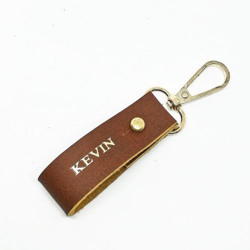 Genuine Leather Keyfob with Swivel Clasps (Free Name Embossing)