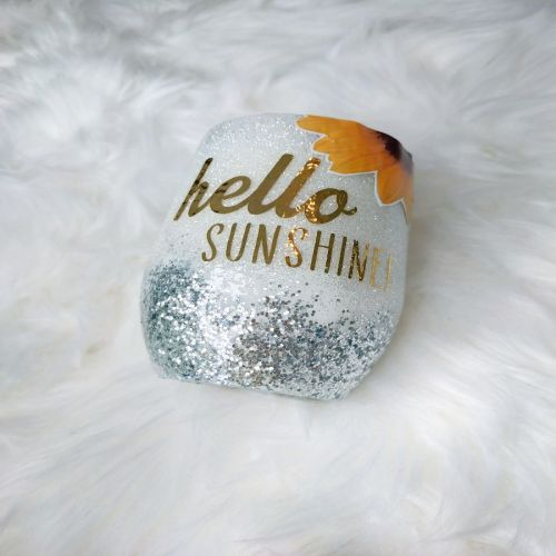 30 Oz Stainless Steel Glitter Tumbler - Sunshine