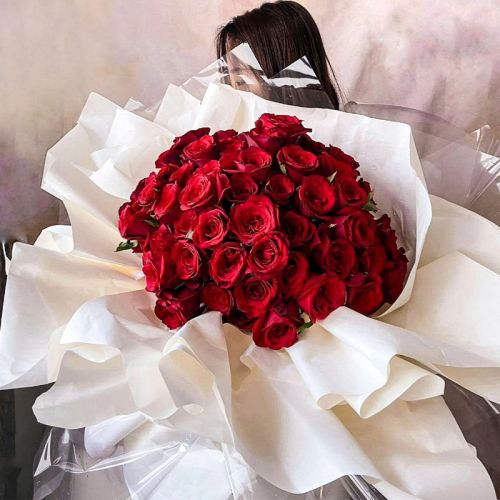 99 Red Roses Proposal Bouquet