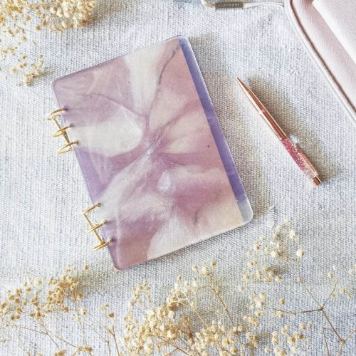 Lavender  - Resin Notebook