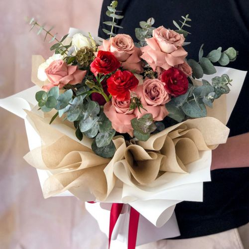 Evermore Red Pink Flower Bouquet
