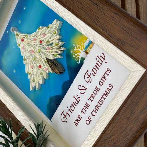 Mini Christmas Frame Series : White Christmas Tree