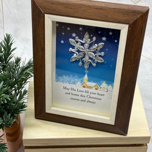 Mini Christmas Frame Series - Silver Snowflake